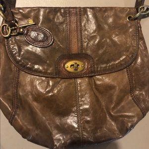 EUC Fossil Vintage Leather Crossbody